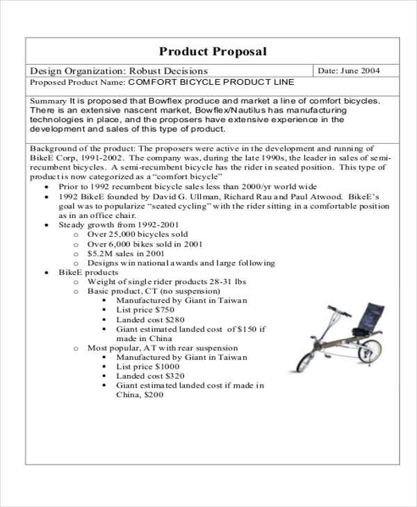 proposal letter to offer products