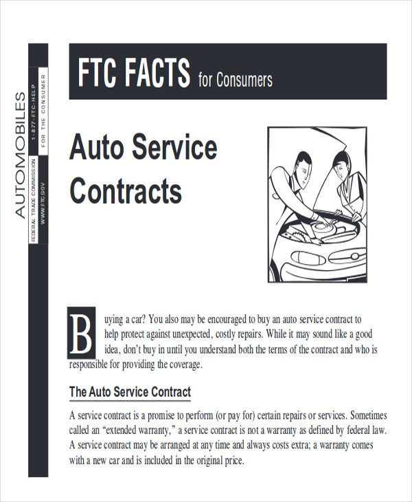 purchase vehicle service contract