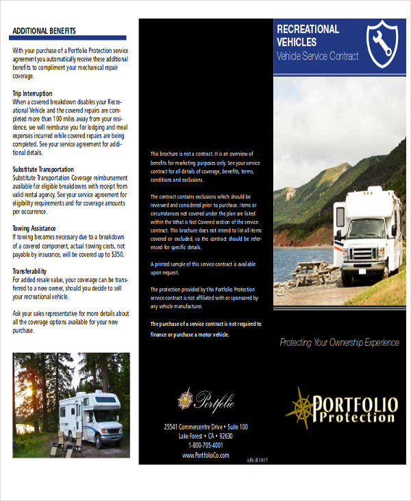 recreational vehicle service contract