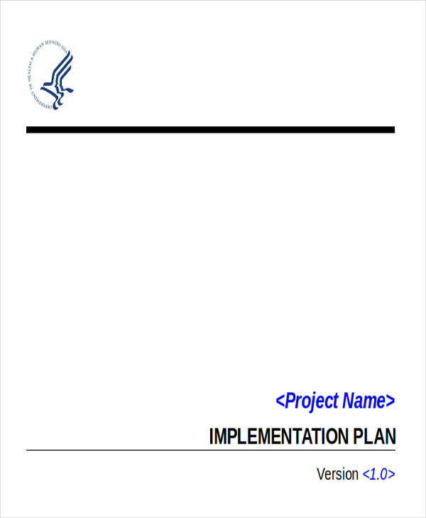 Implementation Plan Example - 6+ Examples In Word, Pdf