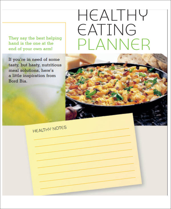 healthy menu planner sample