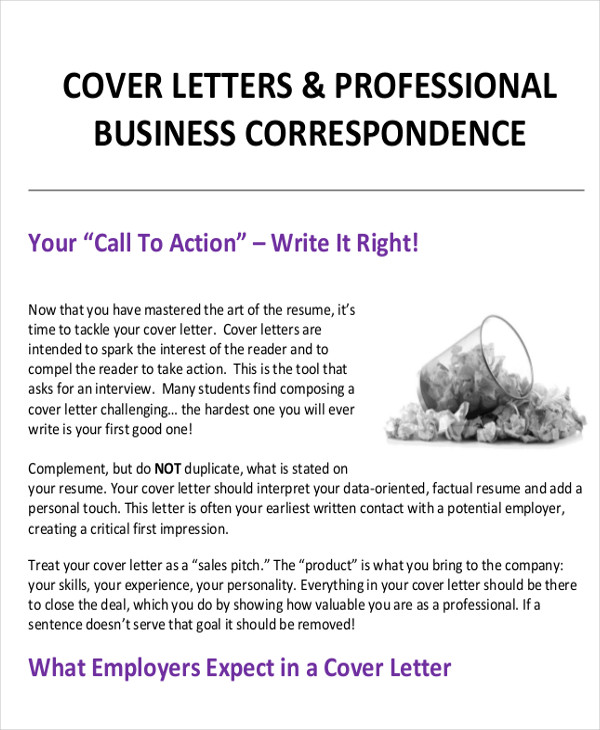 professional business cover letter sample