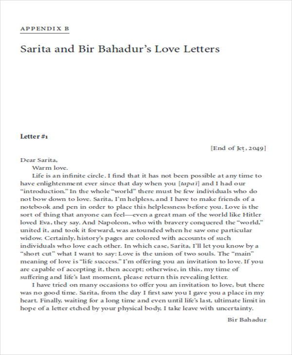Sample Marriage Proposal Letter - 5+ Examples in PDF, Word