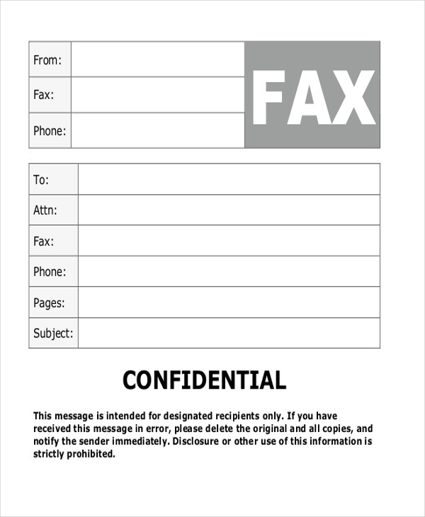 confidential fax cover sheet cover fax cover letter word