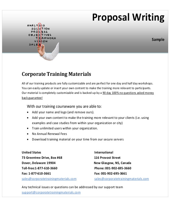 sample training proposal format