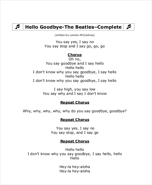 Goodbye Note Sample - 6+ Examples In Word, Pdf