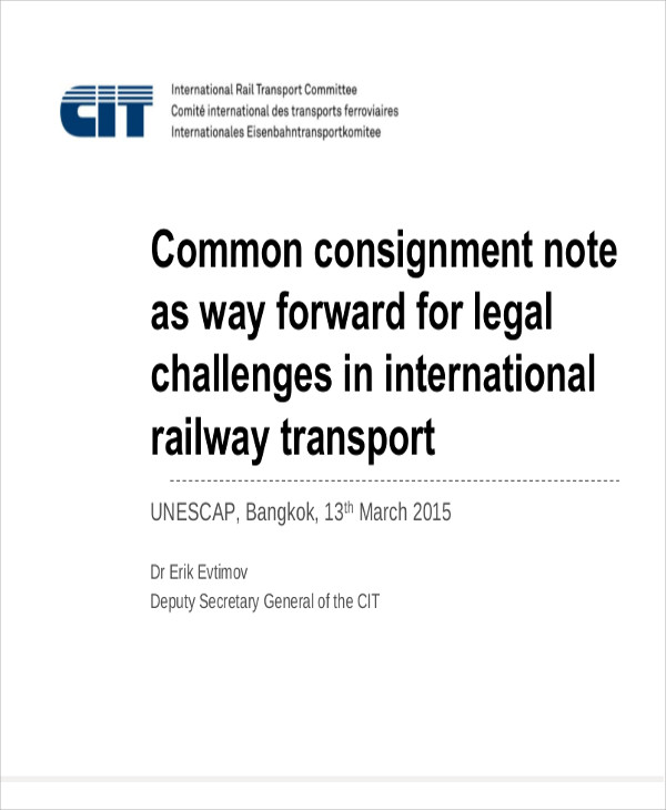 common consignment note