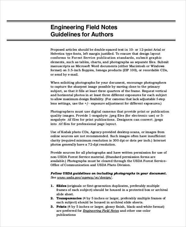 engineering field note