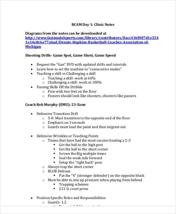 Sample Clinic Note   Examples In Pdf Word