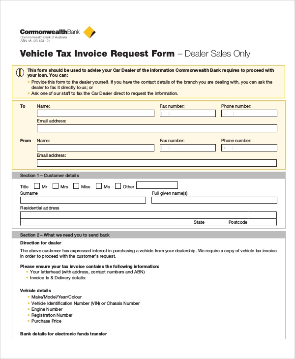 Sample Invoice Request Form   Examples In Word Pdf