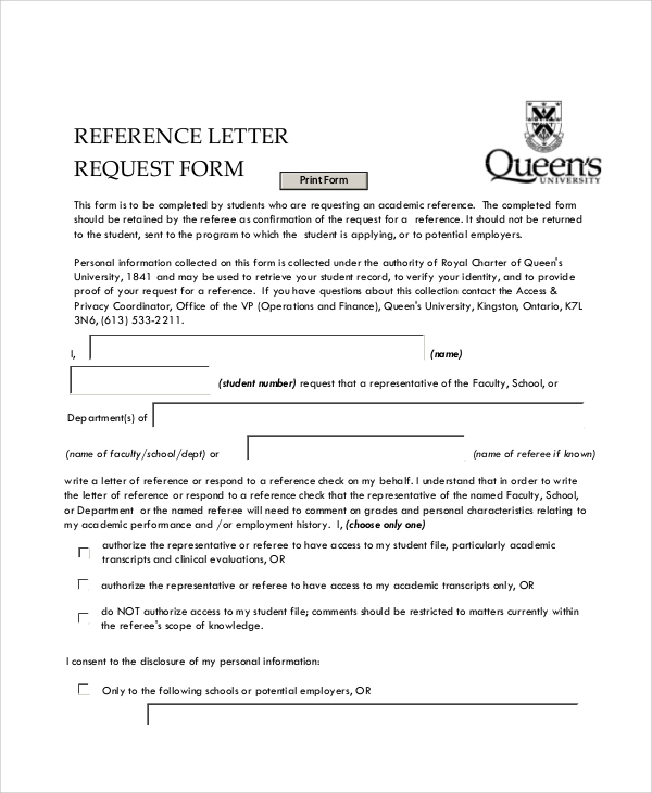 Letter Of Request. Reference Letter Request Form Sample Letter