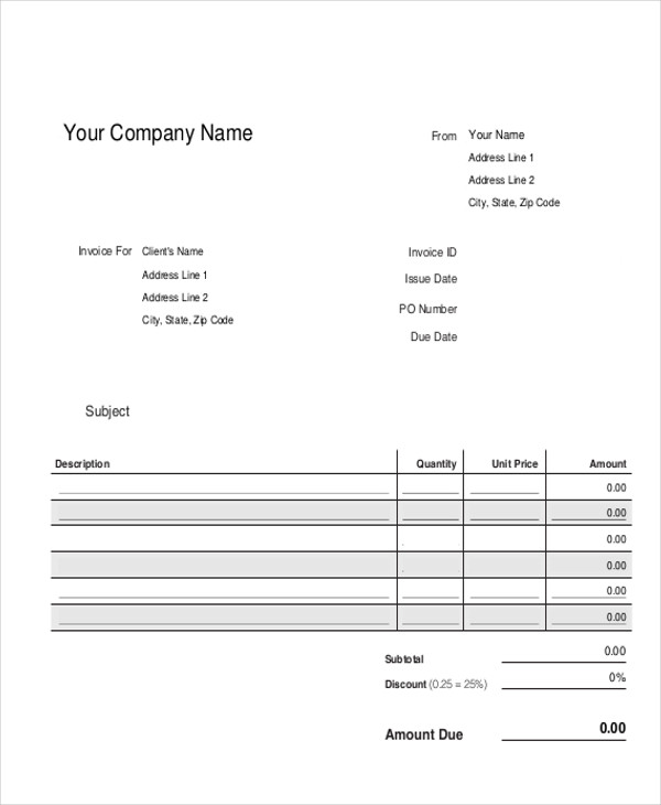 Sample Construction Invoice - 8+ Examples In Pdf, Word, Excel