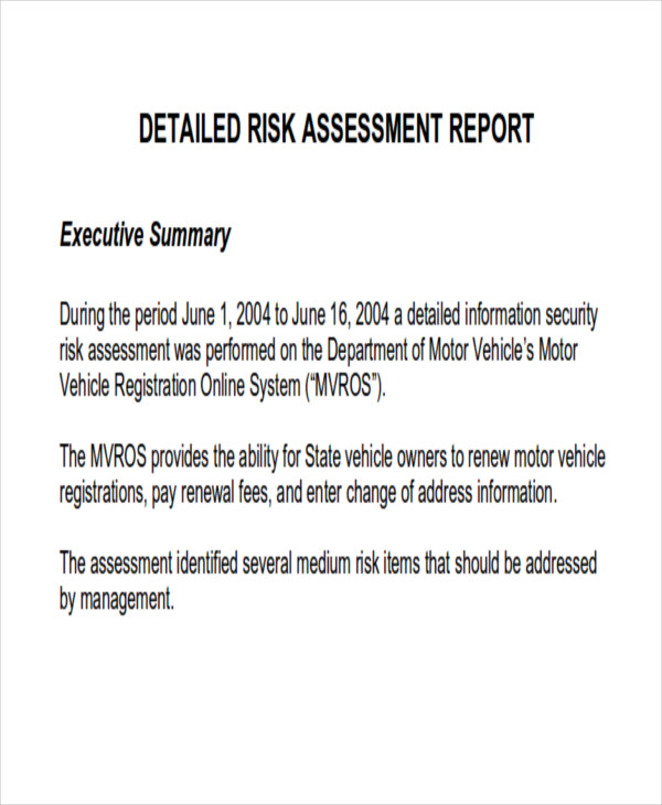 10+ Assessment Report Format Samples- DOCS, Word, Pages, PDF