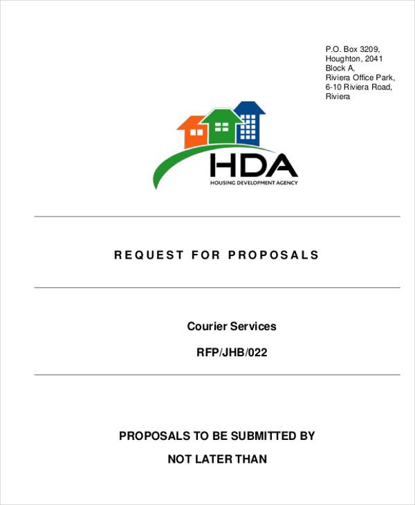 courier service proposal letter pdf