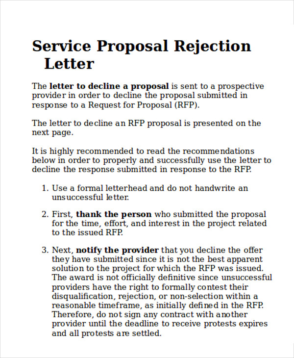 Sample Service Proposal Letter  Examples In Word Pdf