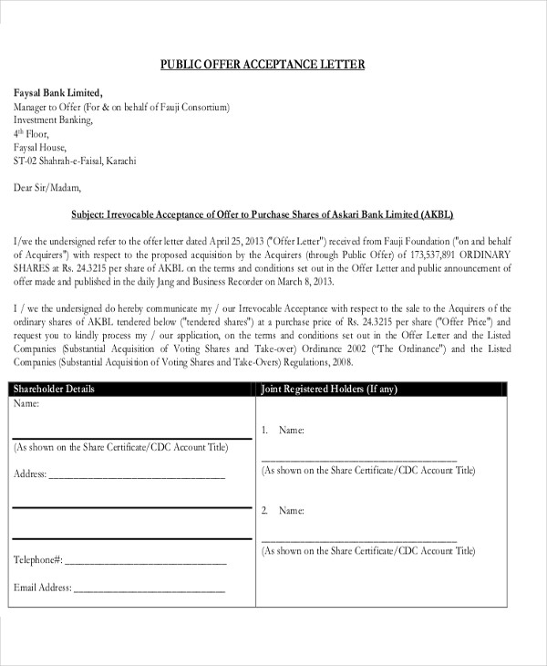 proposal offer acceptance letter in pdf