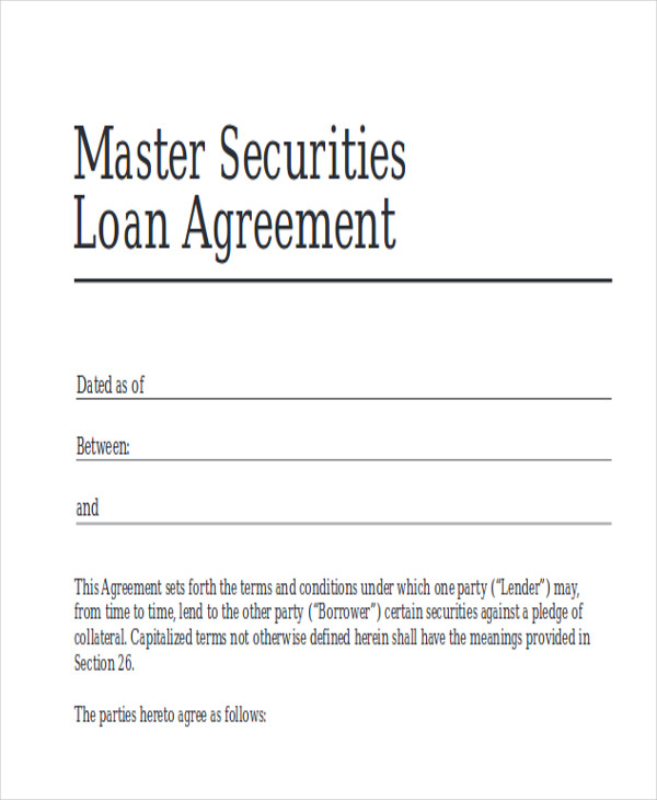 free business loan agreement example