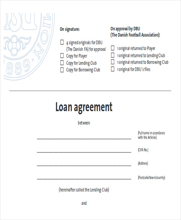 41 Free Sample Agreements – Free Loan Agreement Contract