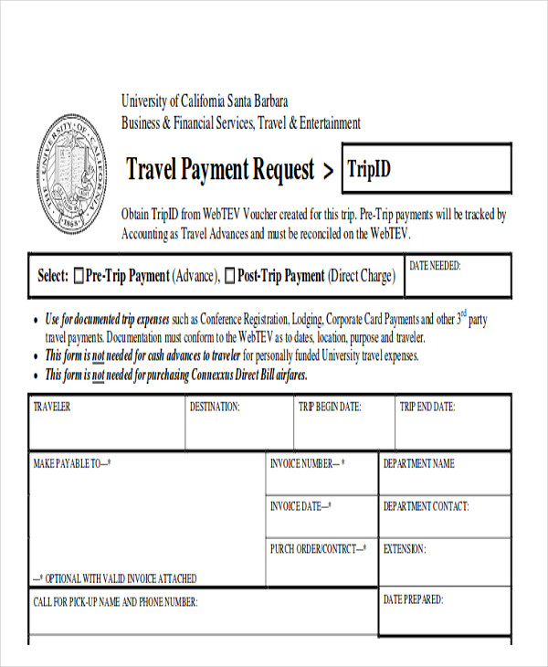 Travel Request Form College Of Communication And Information Online