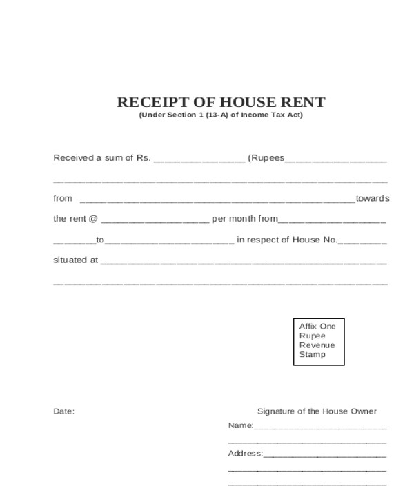 Sample Rental Invoice   Examples In Pdf