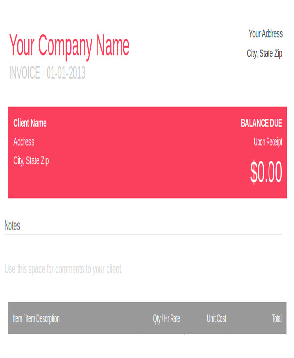 5 graphic design invoice samples sample templates