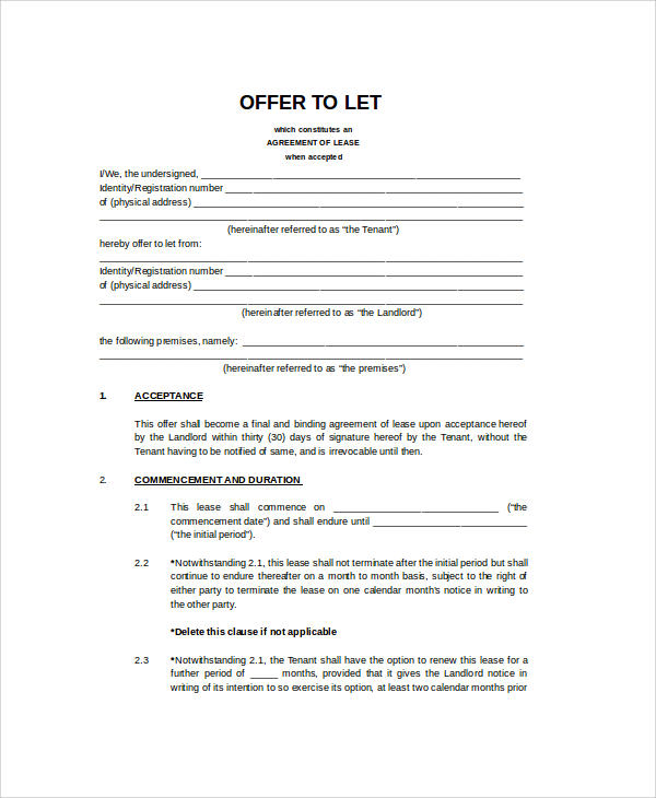 32 Agreement Format Samples Sample Templates
