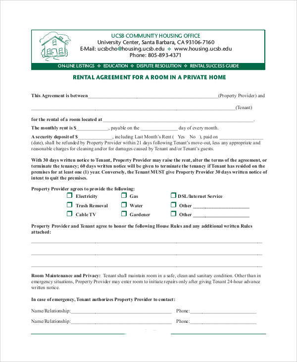 home rent agreement format pdf