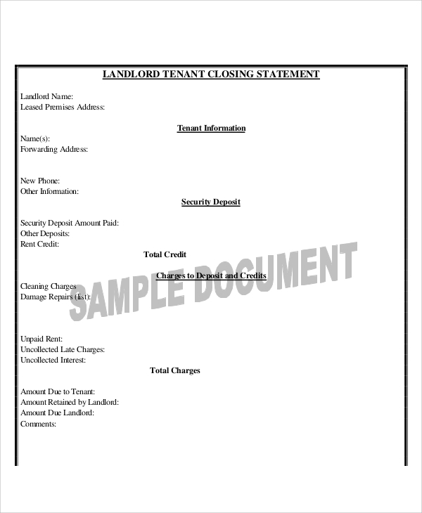 Sample Closing Statement 7 Examples in Word PDF – Closing Statement