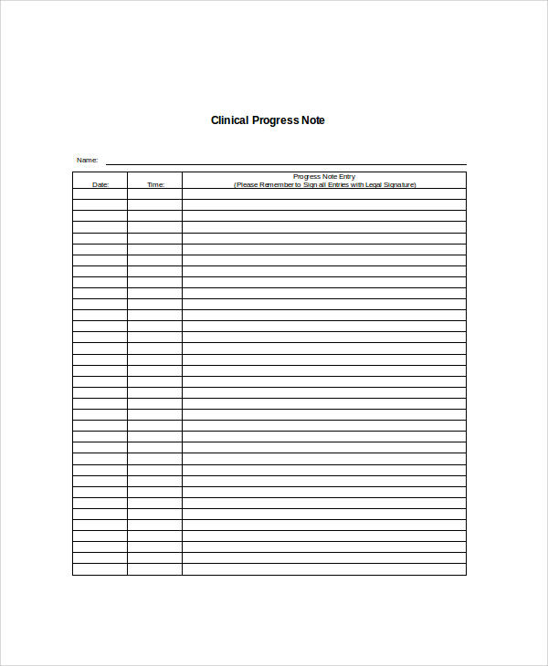 36 notes sample sample templates for Clinical notes template