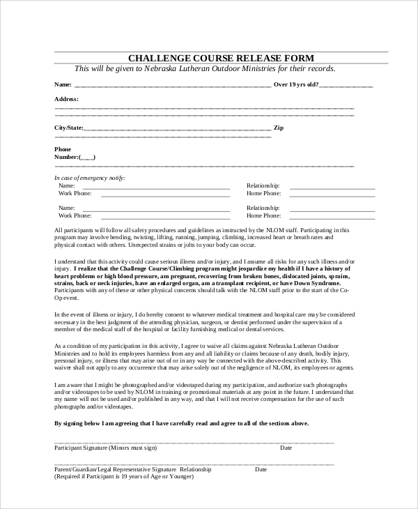 Hospital Release Form Consent Form And Hipaa Authorization The