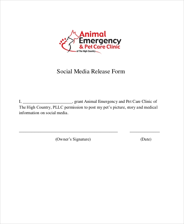 Media Release Form Template  Template Ideamedia Release Form