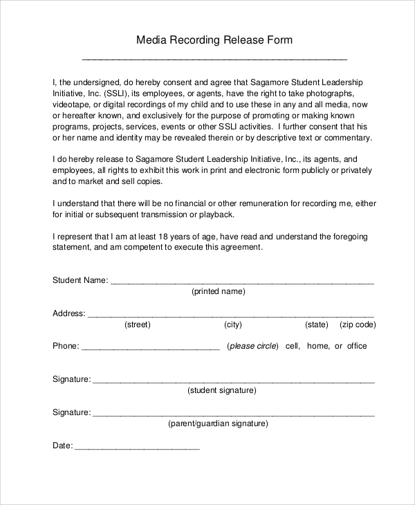 Media Release Form Template | Template Ideamedia Release Form