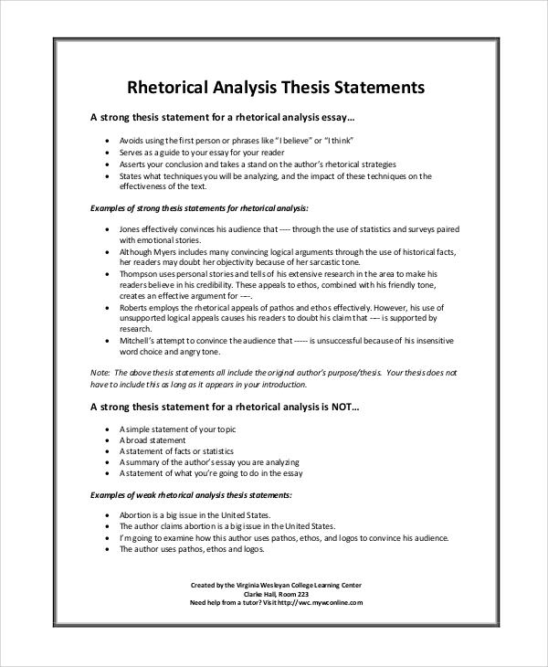 How to write a rhetoric analaysis essay
