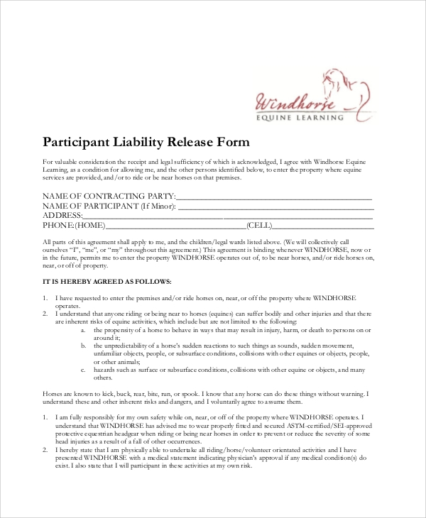 equine liability release form1