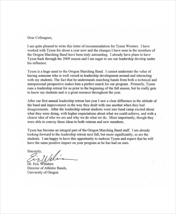 sample recommendation letter coworker