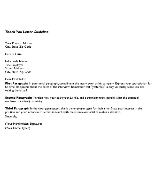 Sample Business ThankYou Note 5 Examples in Word PDF – Business Thank You Notes