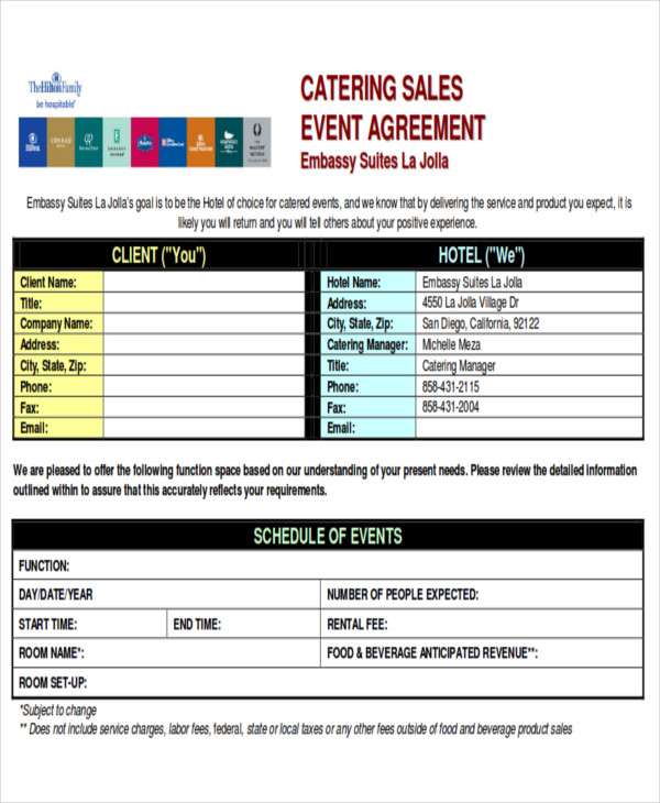catering sales contract agreement pdf