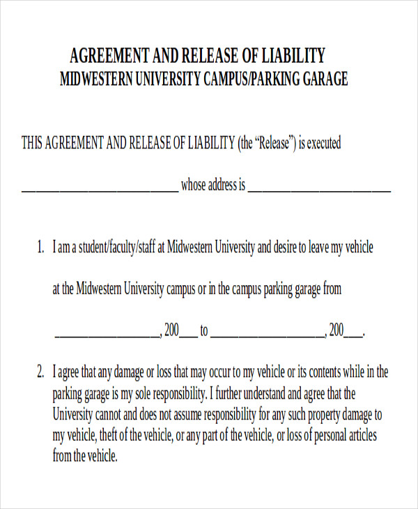 General Release Of Liability Form Simple Property Damage Release