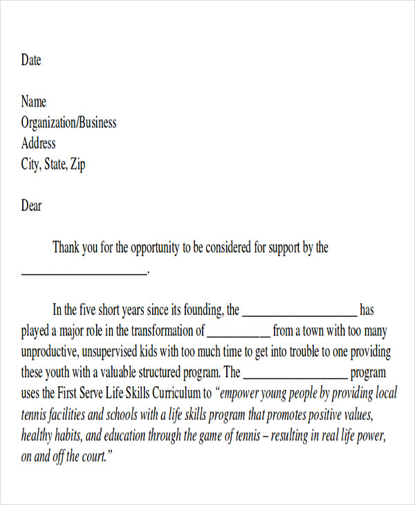7 sample event proposal letters pdf word sample templates example of event proposal letter altavistaventures Choice Image