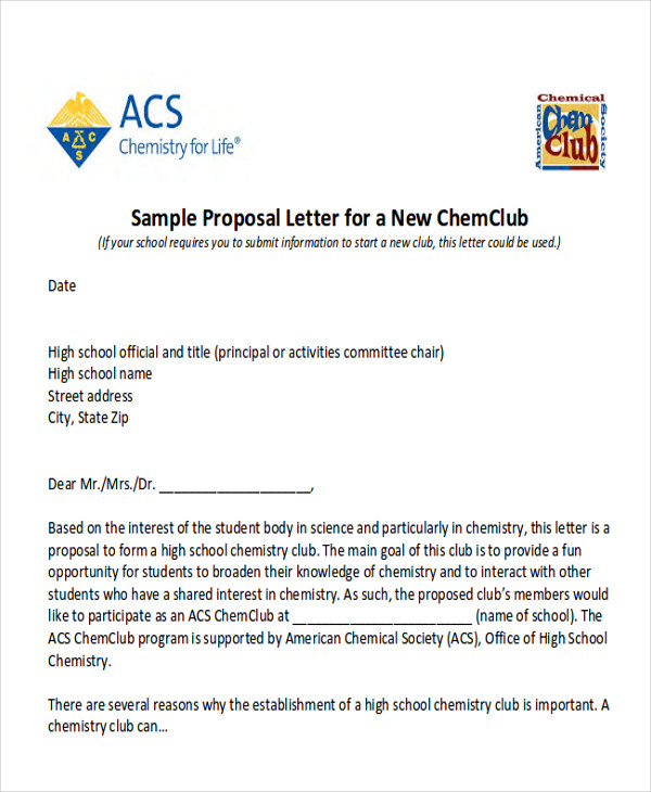 School Event Proposal Letter Sample