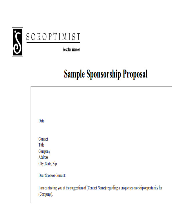 Sample Event Proposal Letter   Examples In Word Pdf