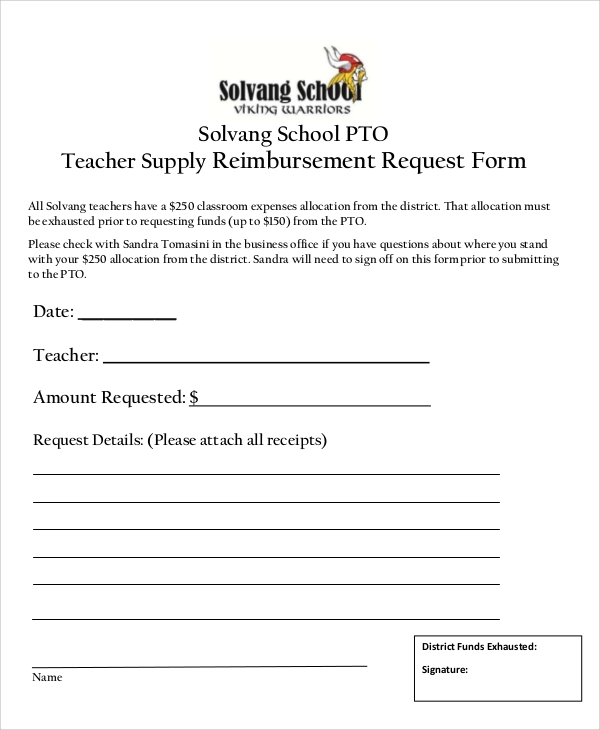 Sample Supply Request Form   Examples In Word Pdf