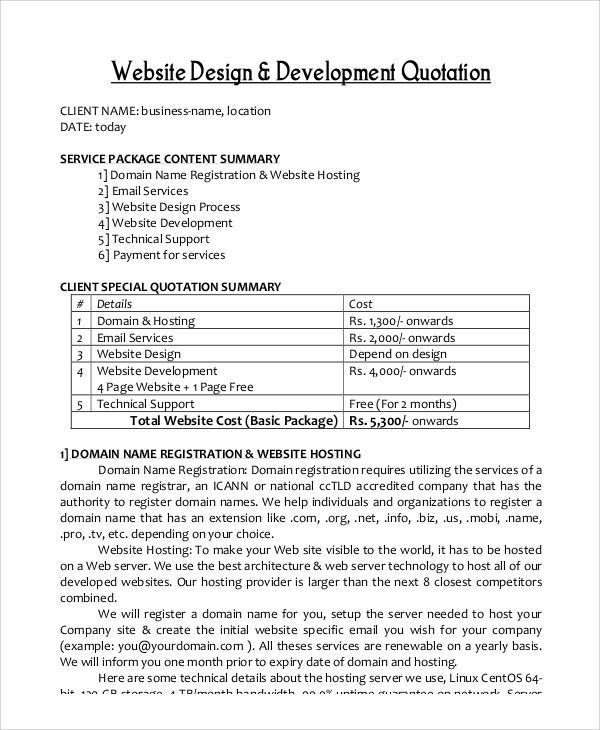 website design quotation1