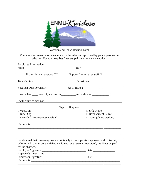 vacation leave request form2