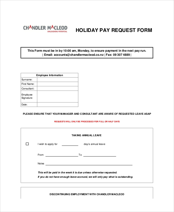Sample Request Forms