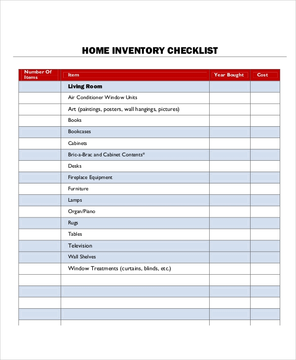 home inventory template | datariouruguay