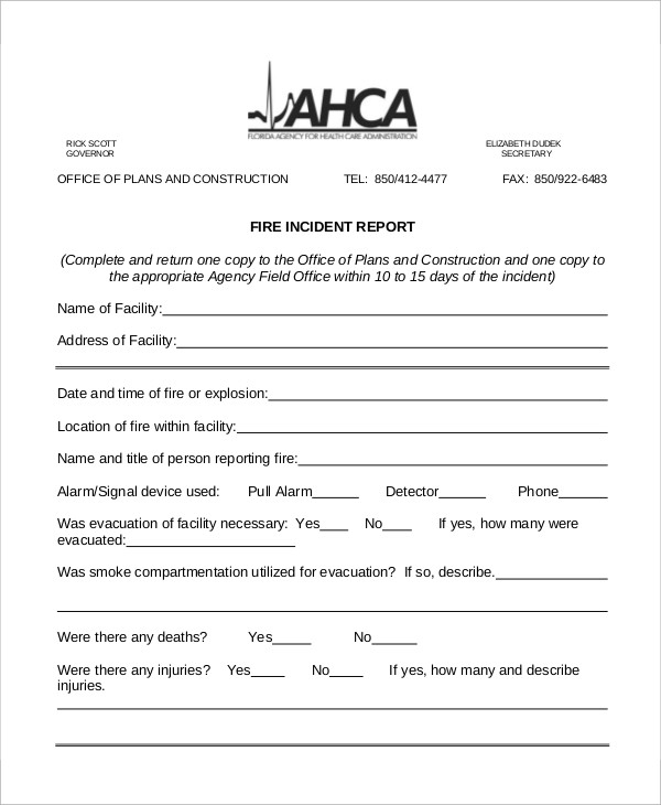 fire incident report Instructions for obtaining records documenting fire department responses to fires and other non-medical incidents are listed below medical incident records: to.