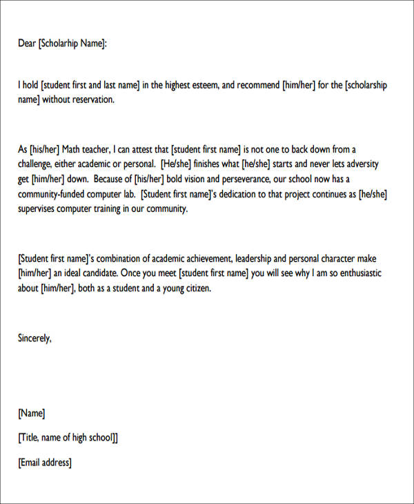 Sample Character Reference Letter Format   Examples In Pdf Word