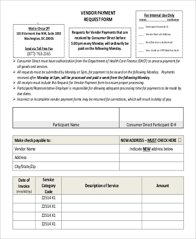 Sample Vendor Request Form - 9+ Examples In Word, Pdf