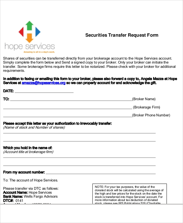 Sample Transfer Request Form - 12+ Examples in Word, PDF